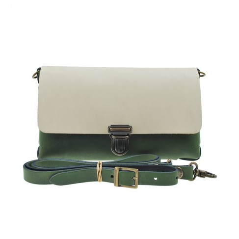 Two Tone Bag Olive Cream