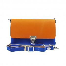 Two Tone Bag Cobalt Orange
