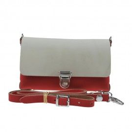 Two Tone Bag Red Cream