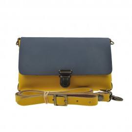 Two Tone Bag Ochre Grey