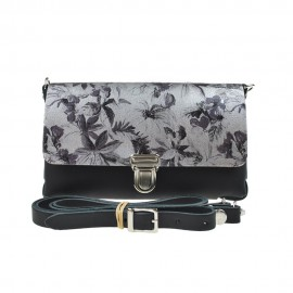 Two Tone Bag Black Flower