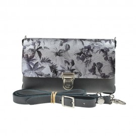 Two Tone Bag Anthracite Flower