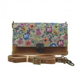 Two Tone Bag Navaho Flower