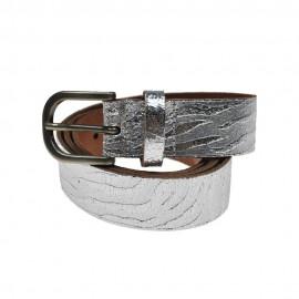Metallic Zebra Silver